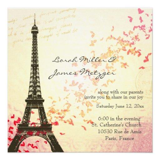 Faire-part de mariage orienté de Paris