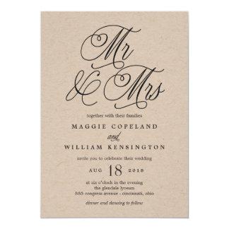 Faire-part de mariage Papier d'emballage de M. et