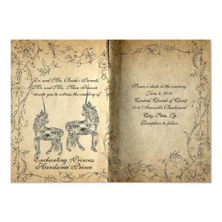 Faire-part de mariage parfait de licorne de livre