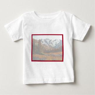 Faire-part de mariage pittoresque de montagne t-shirt