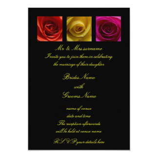 Faire-part de mariage - rose de roses jaune-orange