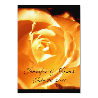 Faire-part de mariage rose d'orange élégante