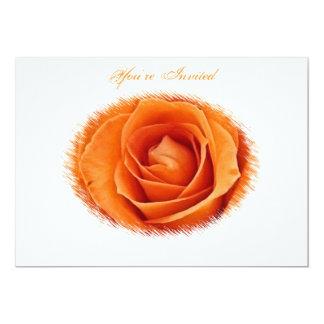 Faire-part de mariage rose d'orange
