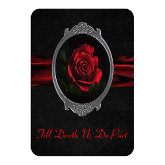 Faire-part de mariage rose gothique