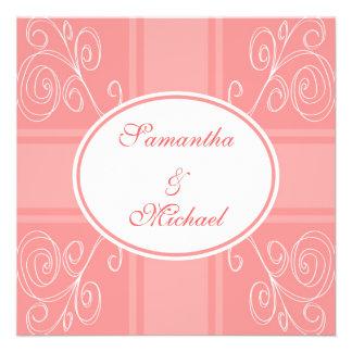Faire-part de mariage rose