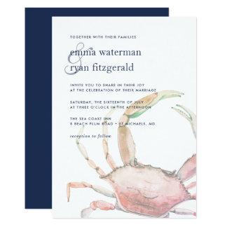 Faire-part de mariage rouge de crabe
