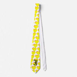 """Faire-part de mariage rouge jaune de coeur de """"J""""  Cravate Customisée"""