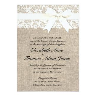 invitations toile de jute faire part toile de jute cartons d 39 invitation toile de jute. Black Bedroom Furniture Sets. Home Design Ideas