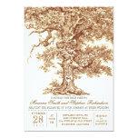 Faire-part de mariage rustique de vieux chêne