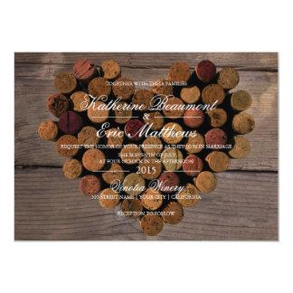 Faire-part de mariage rustique du liège #2 de vin