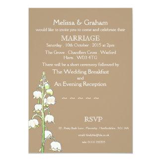 Faire-part de mariage rustique du muguet