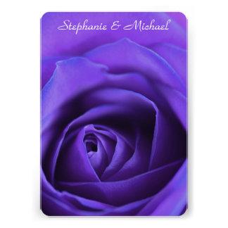 Faire-part de mariage simple de rose de bleu