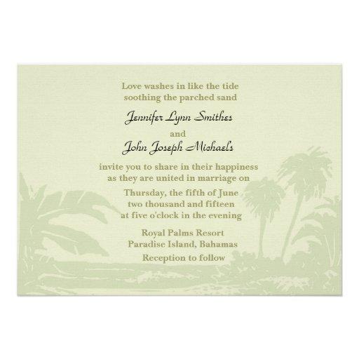faire part de mariage tropical de rendez vous carton d 39 invitation 12 7 cm x 17 78 cm zazzle. Black Bedroom Furniture Sets. Home Design Ideas