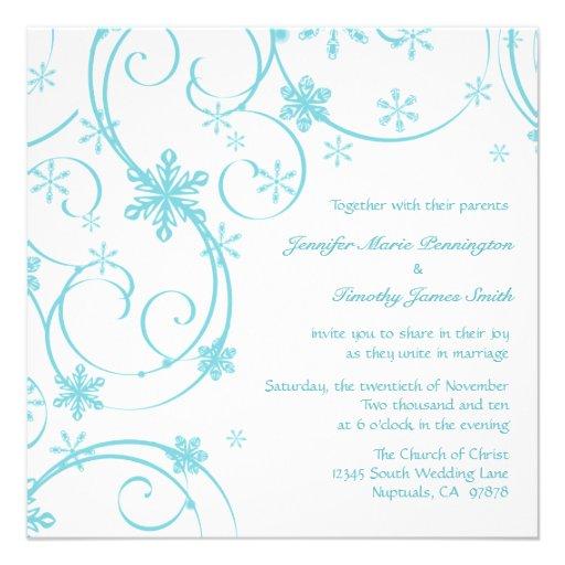 faire part de mariage turquoise blanc d 39 hiver de carton d. Black Bedroom Furniture Sets. Home Design Ideas