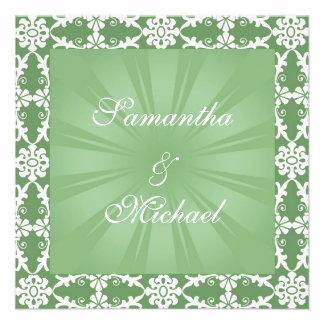 Faire-part de mariage vert