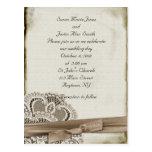 Faire-part de mariage vintage carte postale