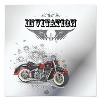 Faire-part de mariage vintage de motard de moto carton d'invitation  13,33 cm