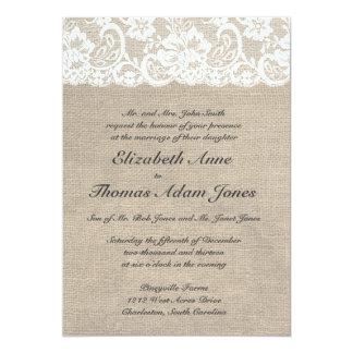 Faire-part de mariage vintage de regard de carton d'invitation  12,7 cm x 17,78 cm