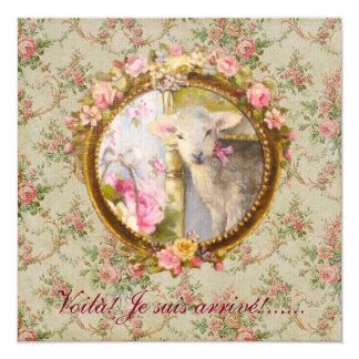 Faire part de naissance - Agneau, mouton, bébé Carton D'invitation 13,33 Cm