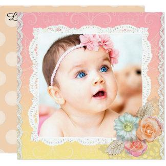 Faire-part de naissance assez floral de bébé