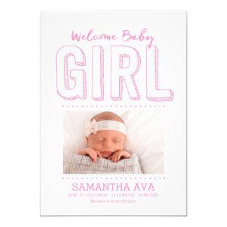 Faire-part de naissance bienvenu du bébé |