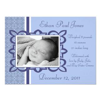 Faire-part de naissance bleu de bébé