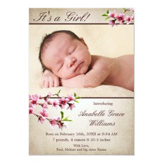 Faire-part de naissance bronzage de photo de
