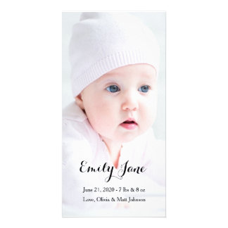 Faire-part de naissance - cartes photos