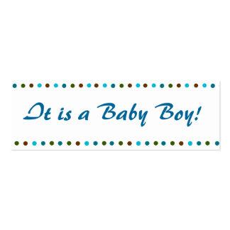 Faire-part de naissance de bébé carte de visite petit format
