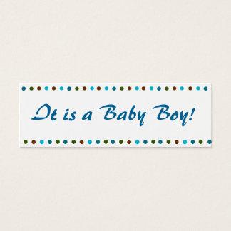 Faire-part de naissance de bébé mini carte de visite