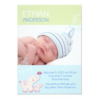 Faire-part de naissance de photo de bébé