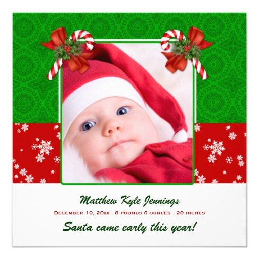 Faire-part de naissance de photo de Noël