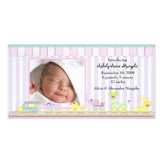 Faire-part de naissance de PHOTO de train de bébé  Photocartes
