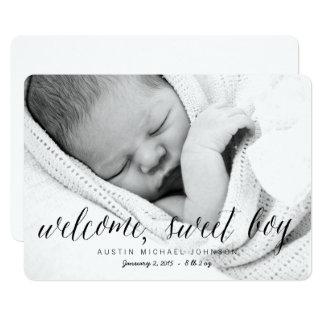 Faire-part de naissance doux bienvenu de photo du