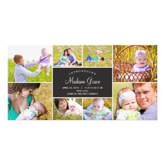 Faire-part de naissance élégant de collage - photocarte customisée