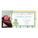 Faire-part de naissance ensoleillé de photo de vie photocartes personnalisées