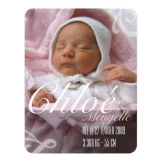 Faire-part de naissance - Fille