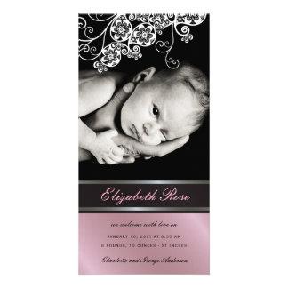 Faire-part de naissance floral de bébé de fleur de
