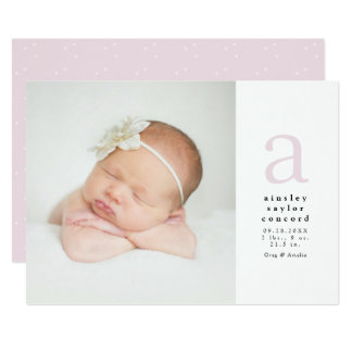 Faire-part de naissance initial