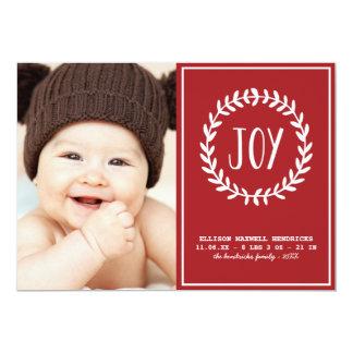 Faire-part de naissance joyeux de vacances des carton d'invitation  12,7 cm x 17,78 cm