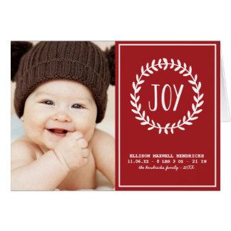 Faire-part de naissance joyeux de vacances fois carte de vœux