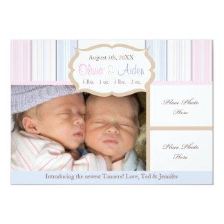 Faire-part de naissance - jumeaux