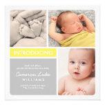 Faire-part de naissance multiple | de photo jaune