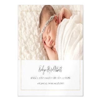 Faire-part de naissance neutre de photo d'éclat