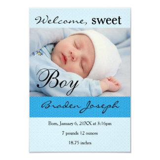 faire-part de naissance nouveau-né de bébé du