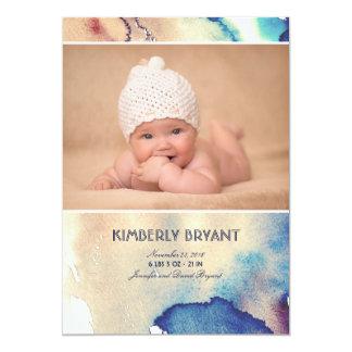 Faire-part de naissance peint moderne de bébé