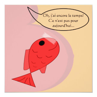 """Faire-part de naissance """"poisson d'avril"""" carton d'invitation  13,33 cm"""