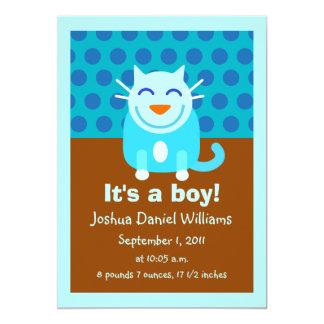 Faire-part de naissance pour le garçon