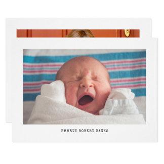 Faire-part de naissance simple de photo