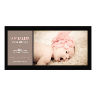 Faire-part de naissance spécial de bébé de photo d photocarte customisée